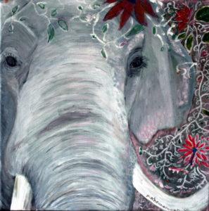 Elefant 40x40