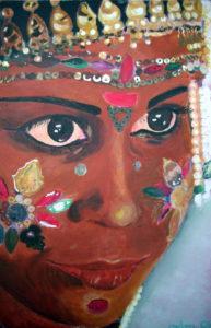 Indisches Mädchen I 30x20