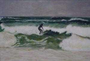 Wellenreiter vor Sylt 40 x 50 cm